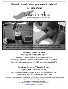 2015 Teen Workshops start Wednesday, September 30th