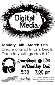 TEEN Digital Media with DeeJay Doc @ Lake Erie Ink | Cleveland Heights | Ohio | United States