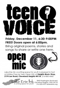 Teen holiday open mic SINGLE Dec 2015