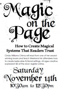 Magic on the Page, November 14th