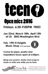 Teen Open Mics 2016 @ Heights Music Shop | Cleveland Heights | Ohio | United States