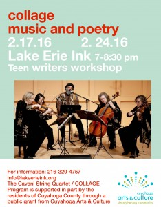 Collage: Music and Poetry at the Teen Writers' Workshop @ Lake Erie Ink | Farmington | Missouri | United States