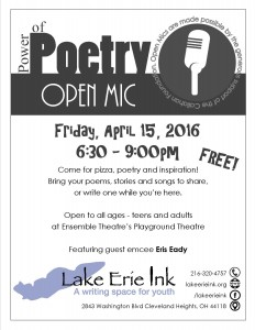 Power of Poetry April 2016 open mic