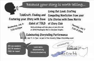 ToldCraft: Finding and Fostering your Story with Dave Sabol of TOLD @ Lake Erie Ink: a writing space for youth | Cleveland Heights | Ohio | United States