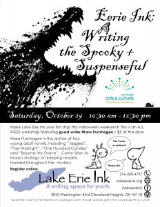 Eerie Ink: Writing the Spooky + Suspenseful @ Lake Erie Ink: a writing space for youth | Cleveland Heights | Ohio | United States