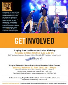 "House of Blues' ""Bringing Down the House"" Application Workshop @ Lake Erie Ink: a writing space for youth 