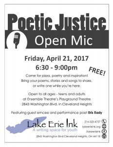 Celebrate National Poetry Month this April with Lake Erie Ink