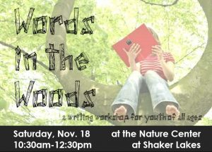 Words in the Woods: a Weekend Ink workshop @ Nature Center at Shaker Lakes | Shaker Heights | Ohio | United States