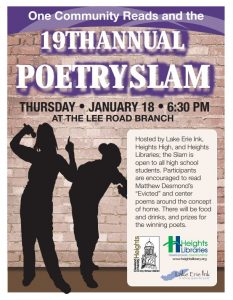 19th Annual Teen Poetry Slam @ Lee Road Library | Cleveland Heights | Ohio | United States