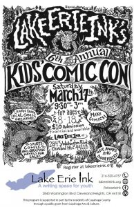Kids and Professional Artists Unite for Lake Erie Ink's 6th Annual Kids' Comic Con