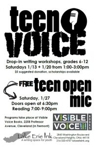 Teen Writing Workshop at Visible Voice Books @ Visible Voice Books | Cleveland | Ohio | United States