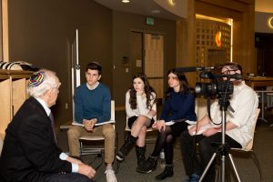 Fuchs Mizrachi students show documentaries for Yom Hashoah