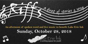 "Purchase your tickets today for ""Riffs: a duet of stories and song"" 10/28, a benefit for Lake Erie Ink"