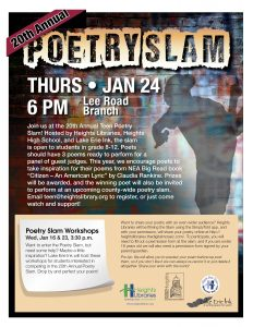 Heights Library Poetry Slam @ Lee Road Library
