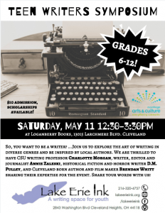 Save the date! …Teen Writers Symposium 5/11