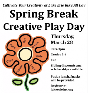 Grow Your Story at Spring Break Creative Play Days! 3/28