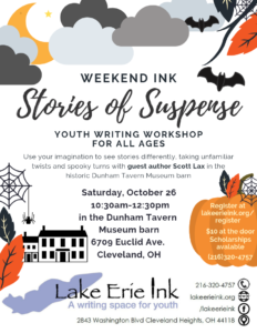 Weekend Ink: Stories of Suspense @ Dunham Tavern Museum barn