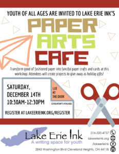 Paper Arts Cafe @ Lake Erie Ink