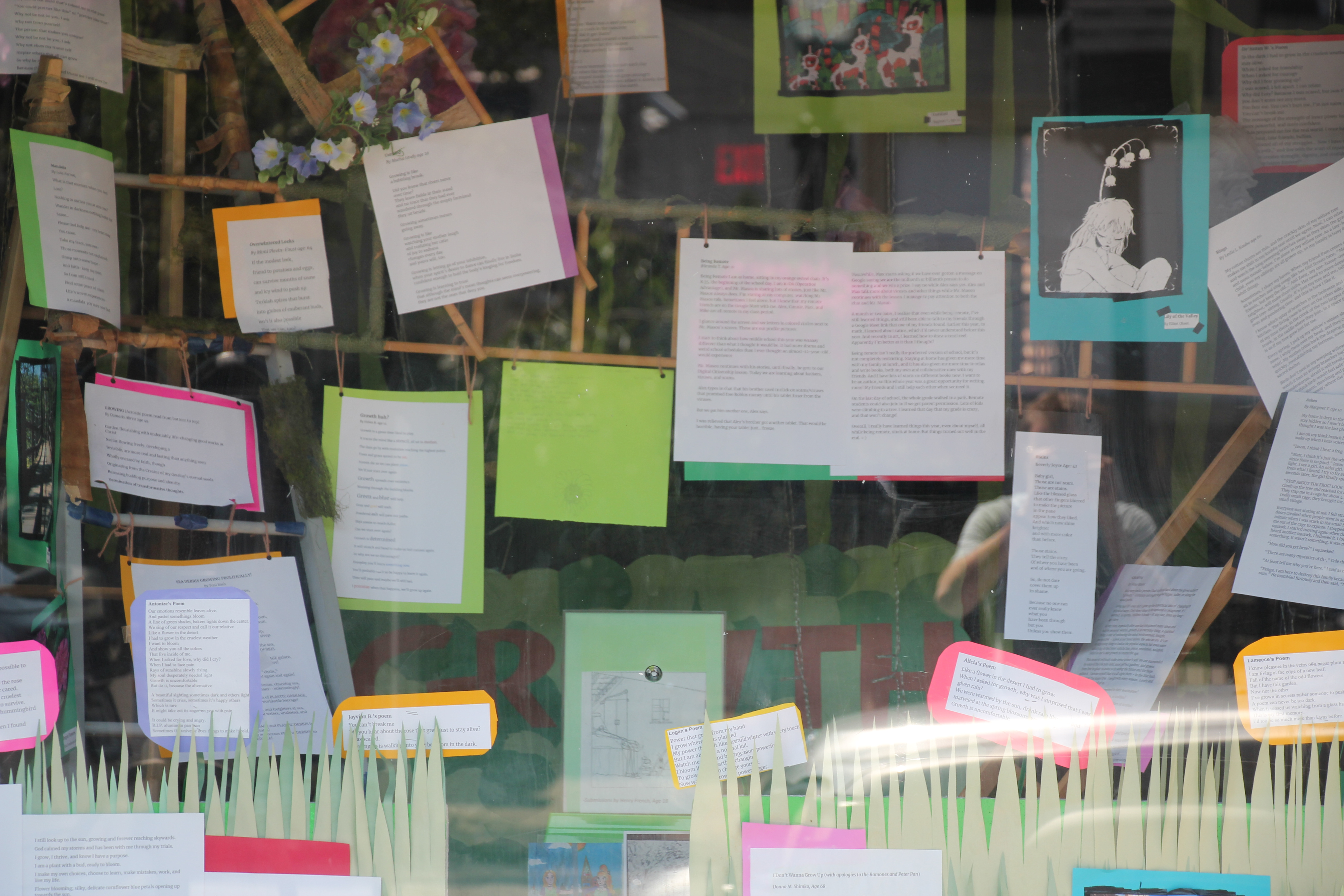 Growth Storefront Display and News Story